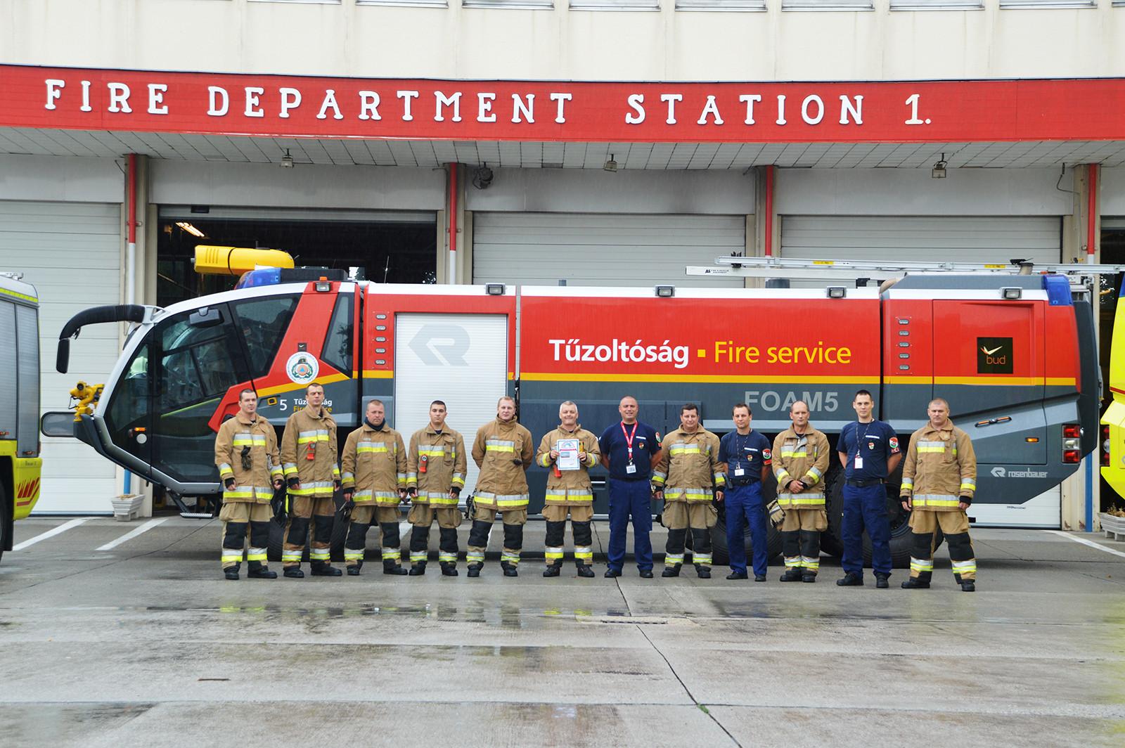 Ismét díjat kaptak a ferihegyi tűzoltók