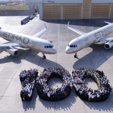 Túl a százon az Etihad Airways