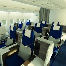 Felújított kabinbelső az Edelweiss Airbus A330-asain